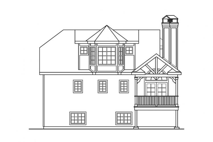 Cape Cod House Plan - Sherbrooke 62010 - Rear Exterior