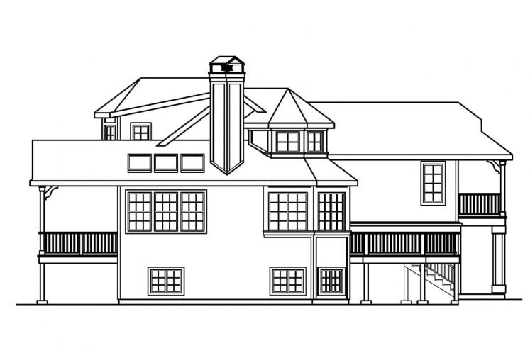 Country House Plan - Sherbrooke 62010 - Left Exterior
