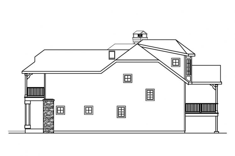 Cottage House Plan - Sherbrooke 62010 - Right Exterior