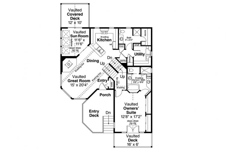 Cape Cod House Plan - Sherbrooke 62010 - 1st Floor Plan