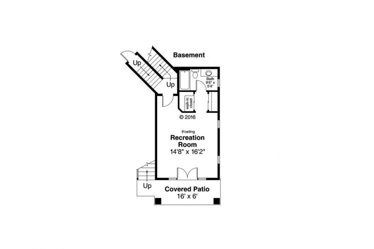 Cottage House Plan - Sherbrooke 62010 - Basement Floor Plan
