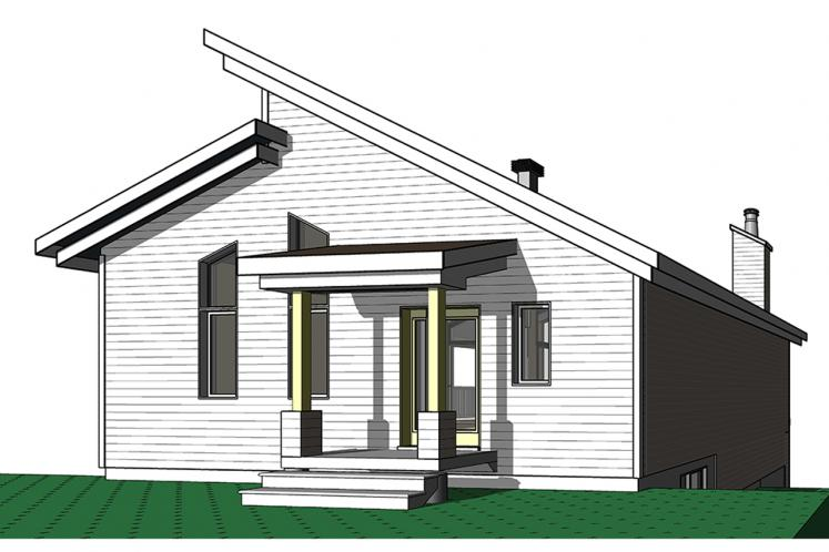 A-Frame House Plan - Malbaie 62154 - Front Exterior
