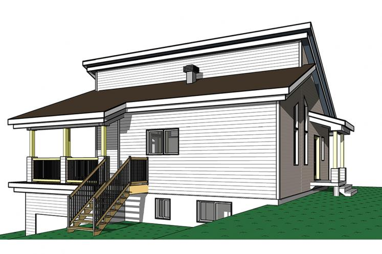 Cottage House Plan - Malbaie 62154 - Left Exterior