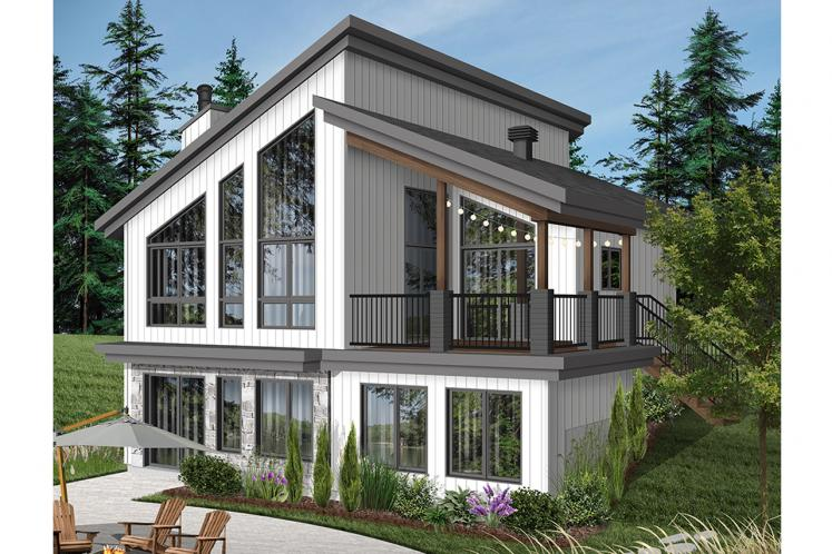 Contemporary House Plan - Malbaie 62154 - Rear Exterior