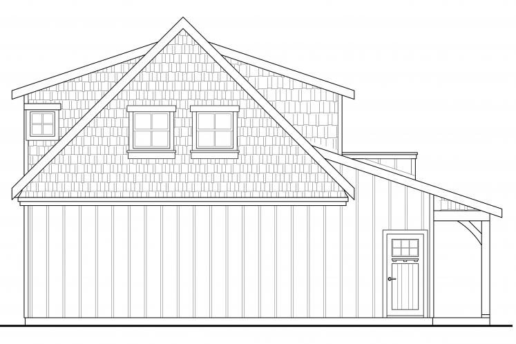 Country Garage Plan -  62272 - Rear Exterior