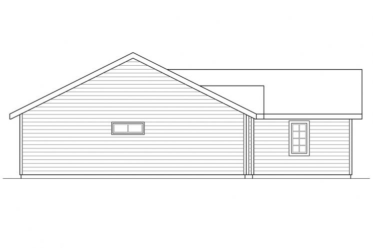 Country House Plan - Halsey 62383 - Left Exterior