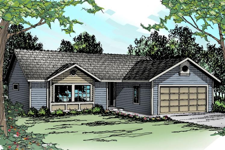 Ranch House Plan - Halsey 62383 - Front Exterior
