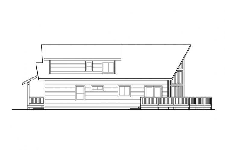 Lodge Style House Plan - Logsden 62416 - Right Exterior