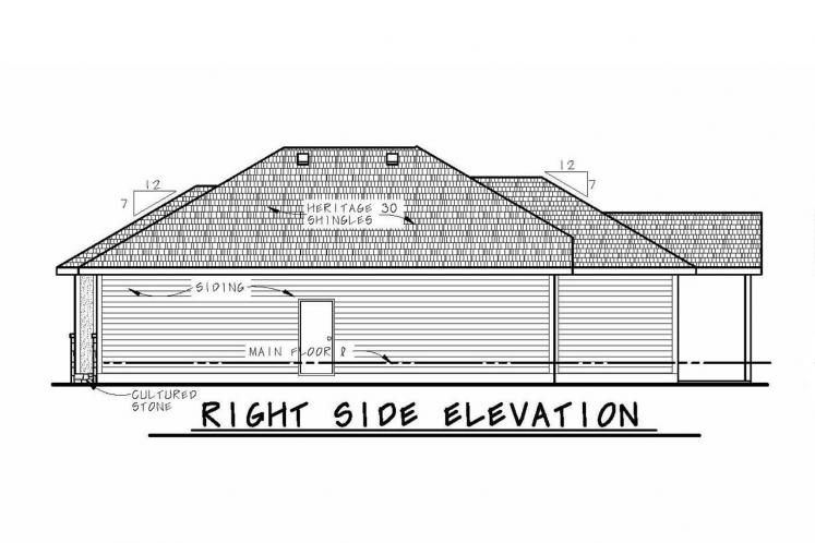 Tuscan House Plan - Hester 62456 - Right Exterior