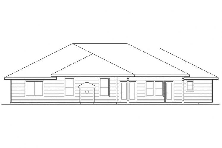 Southwest House Plan - Crownpoint 62509 - Rear Exterior