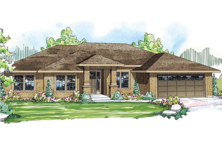 Ranch House Plan - Crownpoint 62509 - Front Exterior