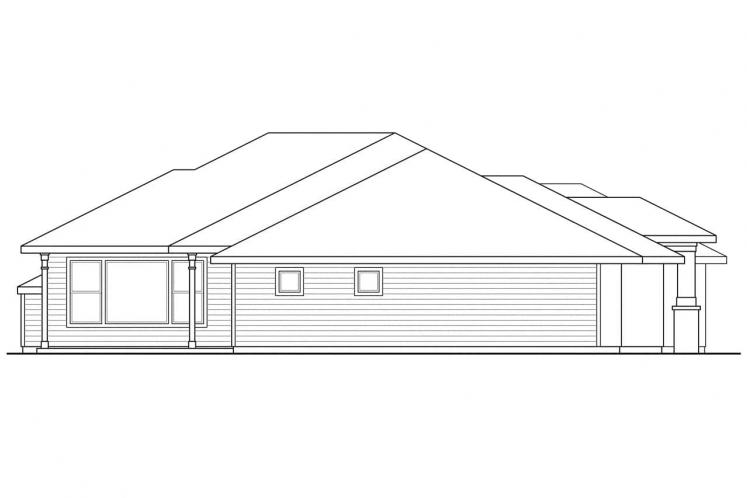 Prairie House Plan - Crownpoint 62509 - Left Exterior