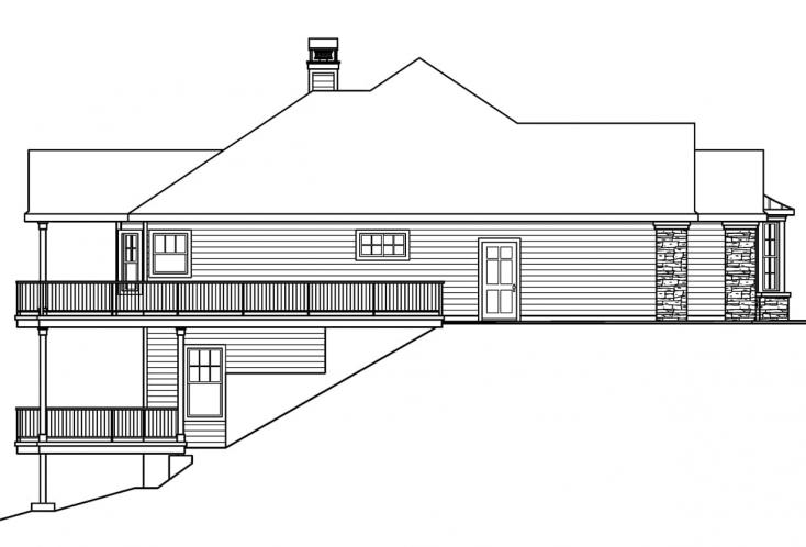 Country House Plan - Lethbridge 62550 - Left Exterior