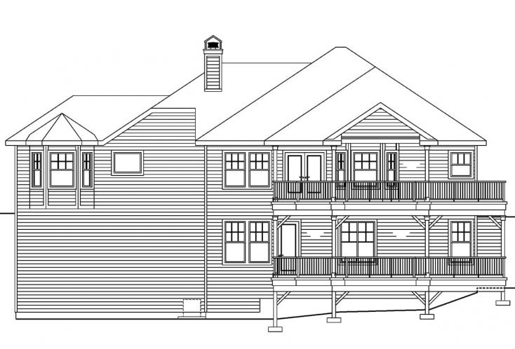 Traditional House Plan - Lethbridge 62550 - Rear Exterior