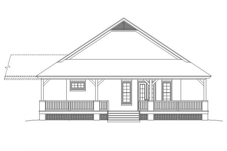 Lodge Style House Plan -  62562 - Left Exterior