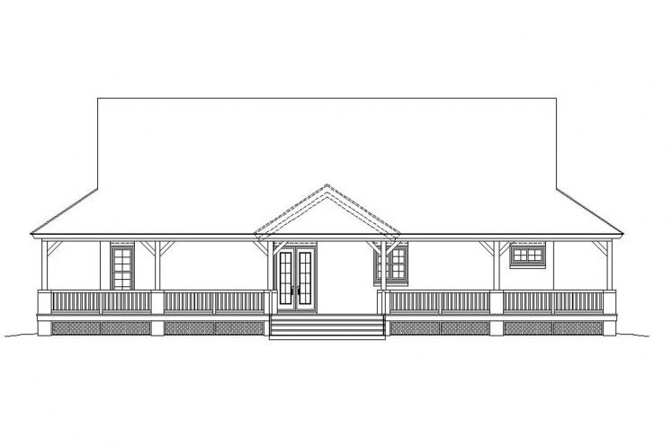 Farmhouse House Plan -  62562 - Rear Exterior
