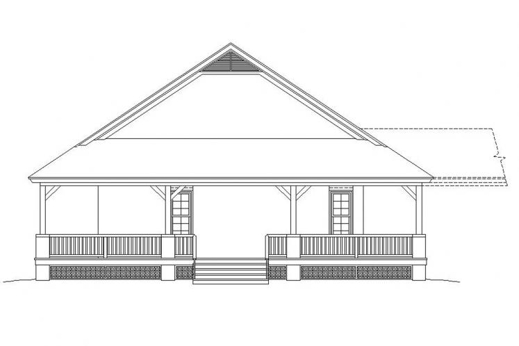 Country House Plan -  62562 - Right Exterior