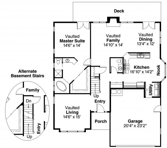 Contemporary House Plan - Maderas 62640 - 1st Floor Plan