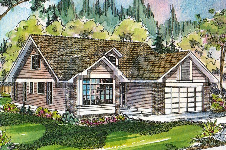 Traditional House Plan - Maderas 62640 - Front Exterior