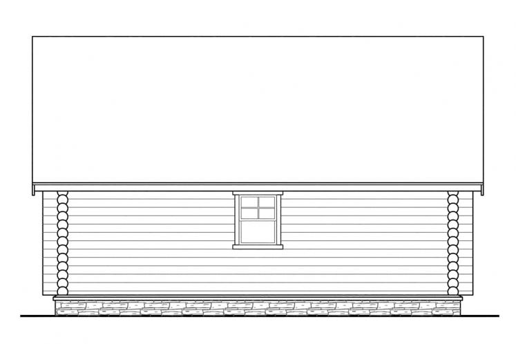 A-Frame House Plan - Eagleton 62662 - Left Exterior