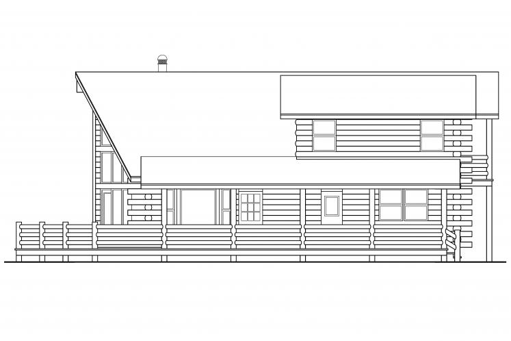 A-Frame House Plan - Eagleton 62662 - Right Exterior