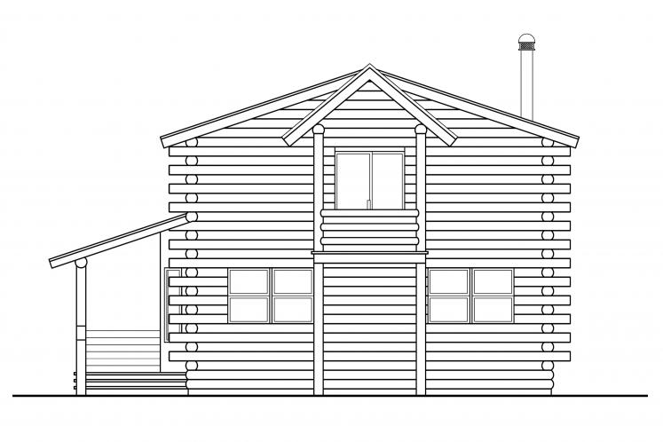 Cottage House Plan - Eagleton 62662 - Rear Exterior