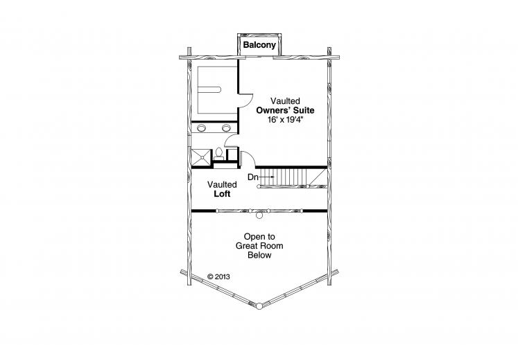 A-Frame House Plan - Eagleton 62662 - 2nd Floor Plan