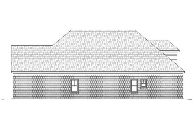 Classic House Plan -  62688 - Right Exterior