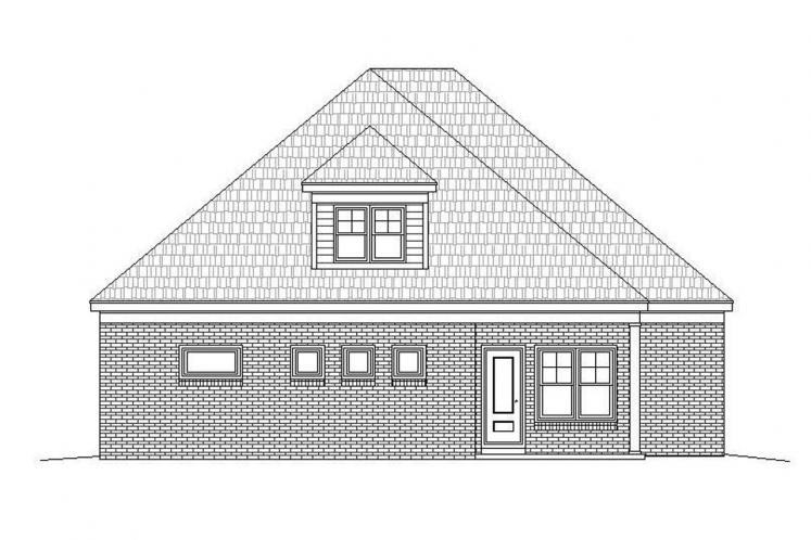Southern House Plan -  62688 - Rear Exterior