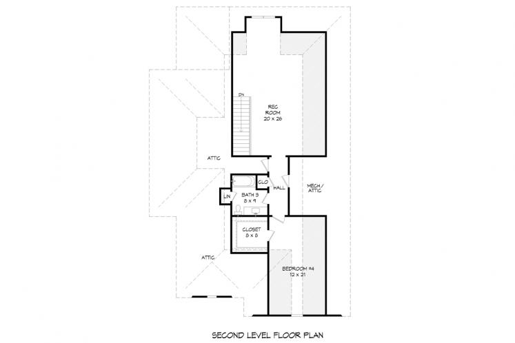 Traditional House Plan -  62688