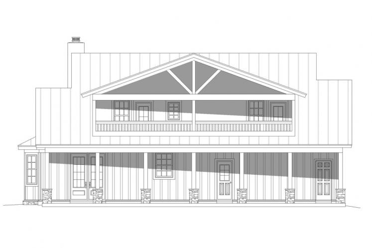 Cottage House Plan - Puu Lani Ranch 62696 - Rear Exterior
