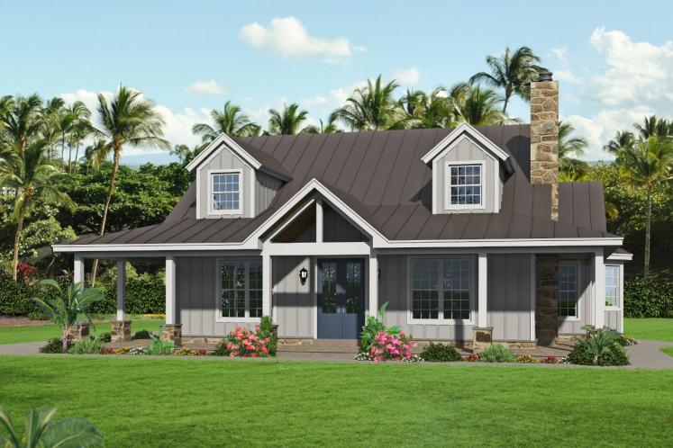 Country House Plan - Puu Lani Ranch 62696 - Front Exterior