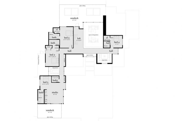 Contemporary House Plan - Cottonseed 62724 - 2nd Floor Plan