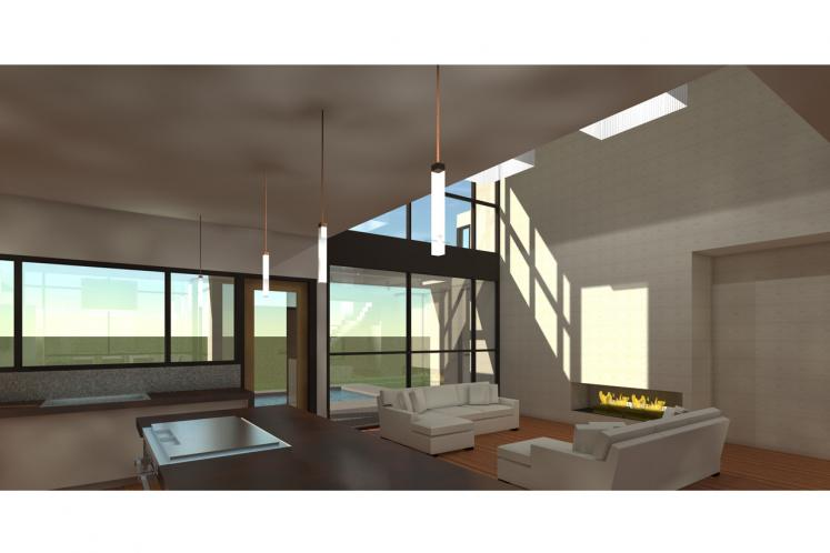 Contemporary House Plan - Cottonseed 62724 - Living Room