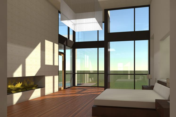 Contemporary House Plan - Cottonseed 62724 - Master Bedroom
