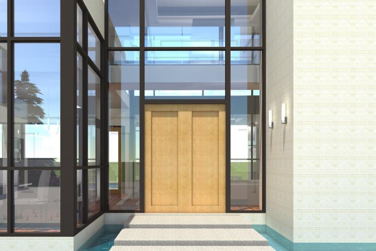 Modern House Plan - Cottonseed 62724 - Entrance