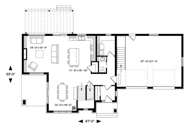 Modern House Plan - Liana 62792 - 1st Floor Plan