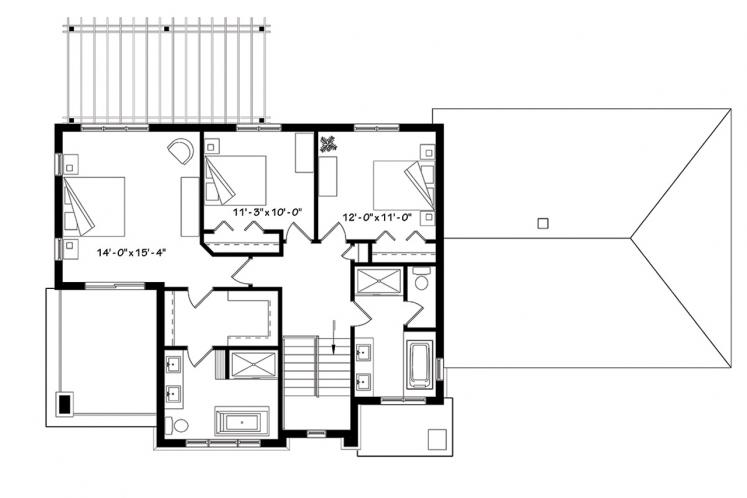 Farmhouse House Plan - Liana 62792 - 2nd Floor Plan