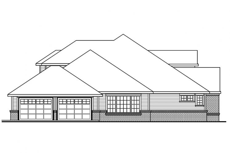 Traditional House Plan - Laurelwood 62808 - Left Exterior