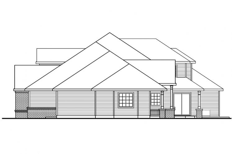 Classic House Plan - Laurelwood 62808 - Right Exterior