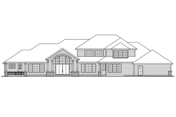Southern House Plan - Laurelwood 62808 - Rear Exterior