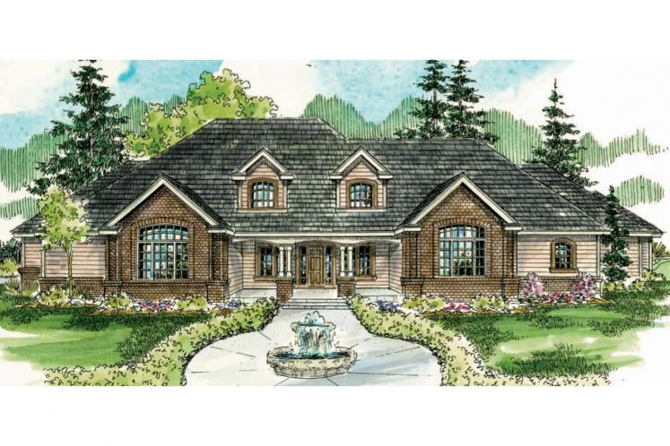 Classic House Plan - Laurelwood 62808 - Front Exterior