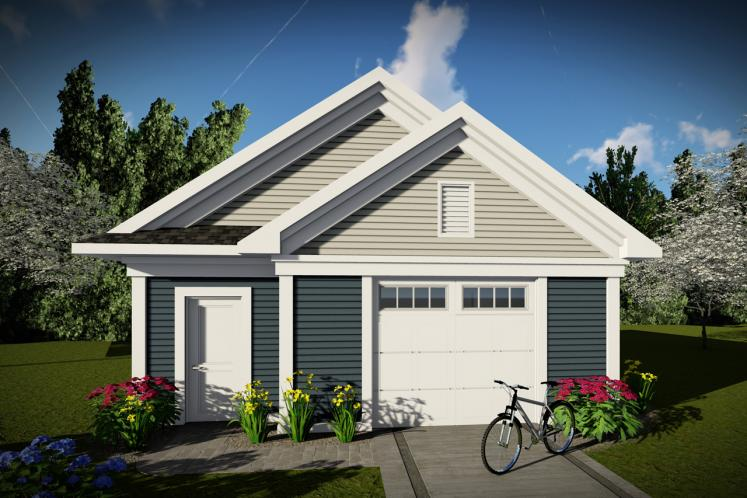 Traditional Garage Plan -  62900 - Front Exterior
