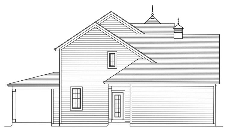 Country House Plan - Clarise  62916 - Left Exterior