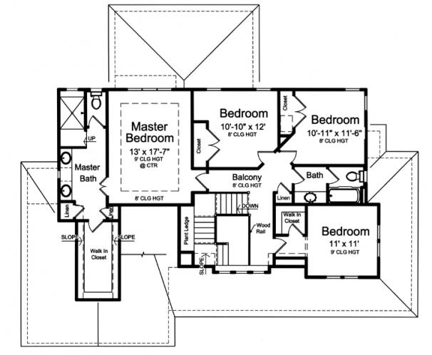 Traditional House Plan - Clarise  62916 - 2nd Floor Plan
