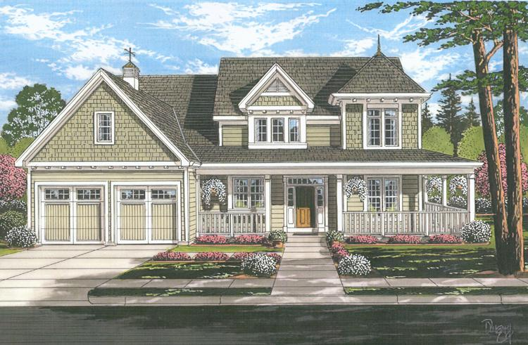 Country House Plan - Clarise  62916 - Front Exterior