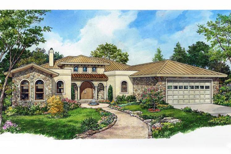 Tuscan House Plan - Irvine 62991 - Front Exterior