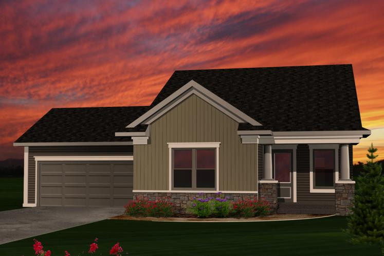 Traditional House Plan -  63049 - Front Exterior