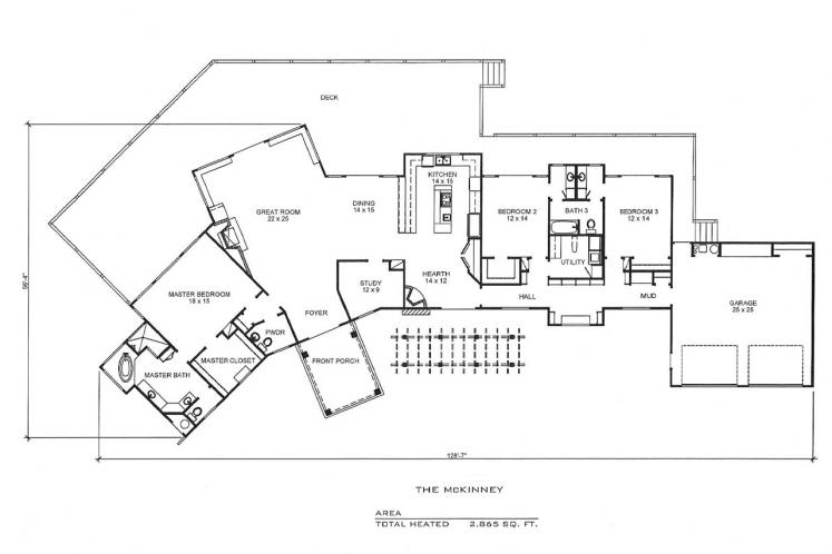 Contemporary House Plan - McKinney 63053 - 1st Floor Plan