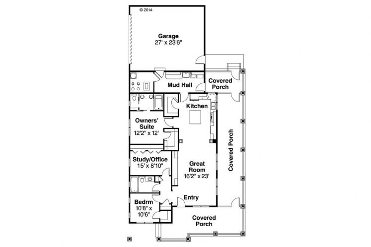 Country House Plan - Cadence 63066 - 1st Floor Plan